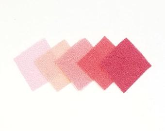 30 - precut 20mm squares for Tsumami Kanzashi - Pink hues