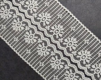 Vintage, 2 inch, off-white - ivory color lace trim- by the yard