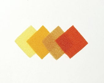 30 - precut 20mm squares for Tsumami Kanzashi - Yellow and Orange hues
