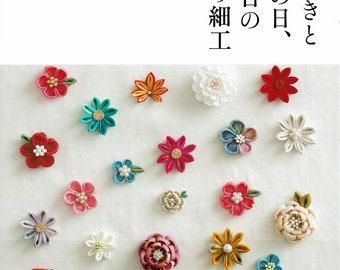 Japanese Kanzashi Tsumami book by Tsuyu Tsuki, - Hair ornaments and accessories for ceremony