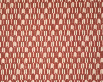 Japanese import new cotton quilting fabric - red-orange arrows