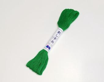 Sashiko thread - Virdian Green color #26 - 20 meter skein