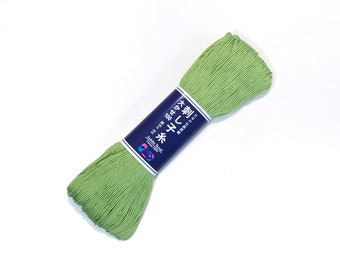 Japanese Sashiko thread - Yellow-Green color # 107 - 100 meter skein