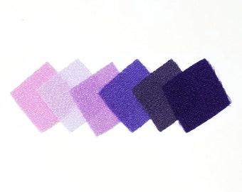 30 - precut 22mm squares for Tsumami Kanzashi - Purple hues