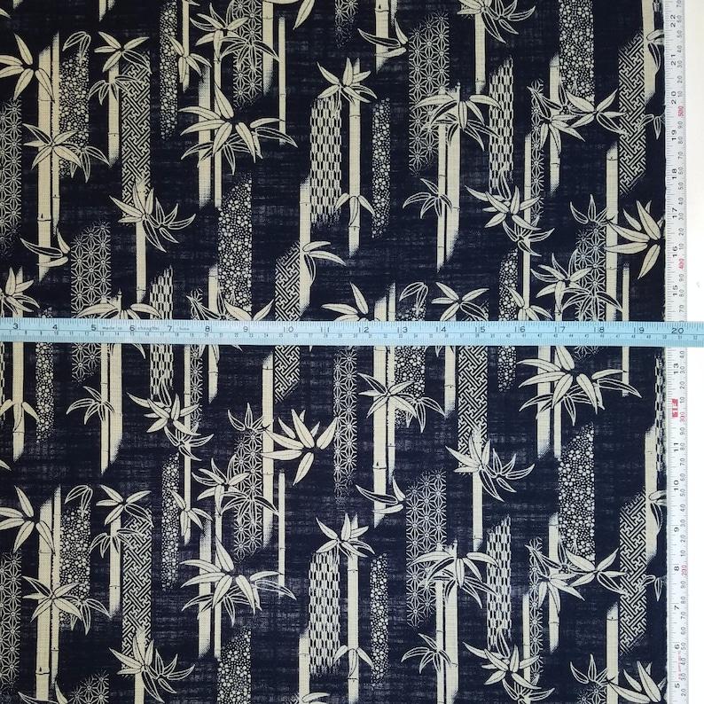 Sevenberry Japan Nara Homespun cotton canvas fabric Bamboo and traditional designs