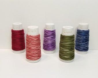 Lecien Cosmo Hidamari sashiko thread - Graduated variegated hues - 30 meter skein