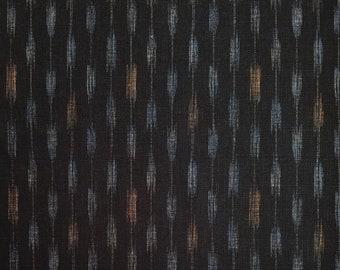 Japanese import new cotton fabric - Morikiku Japan arrow dobby in black