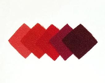 30 - precut 20mm squares for Tsumami Kanzashi - Red hues