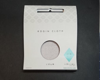 Yokota Daruma Japanese linen kogin embroidery fabric - ecru, gray, red, blue, indigo blue or black