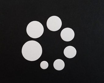 20 - precut circle cardboard bases for Tsumami Kanzashi