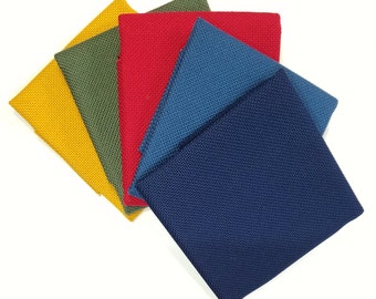 Japanese congress cloth for kogin-zashi kogin embroidery - Mustard, Forest Green, Red, Blue or Navy