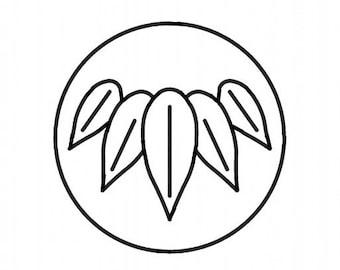 "Quilting Creations ""Mini Sashiko Shippo, Bamboo Crest & Swirling Squares"" Sashiko template stencil pattern"