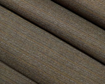 Vintage, dark brown striped, wool kimono fabric with dark blue lining - 45 inches (114 cm)