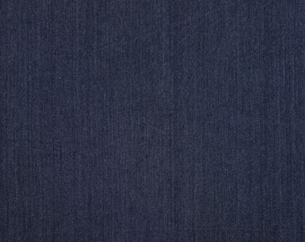 Olympus Japan sakizomemomen yarn dyed cotton fabric - Indigo blue