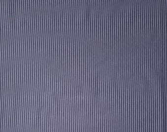 Japanese import New indigo colored cotton quilting fabric - stripes