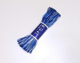 Sashiko thread - Variegated navy blue color # 151 - 100 meter skein