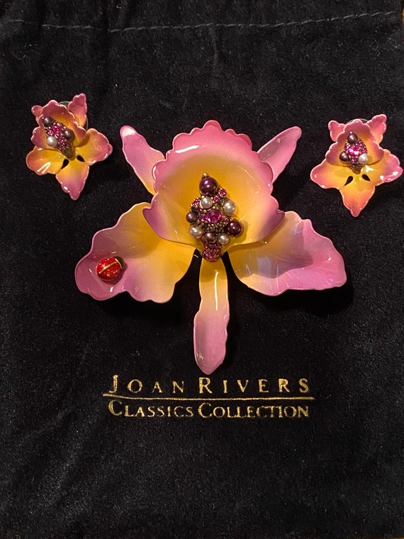 Joan Rivers Collection Orchid Flower Pendant and E