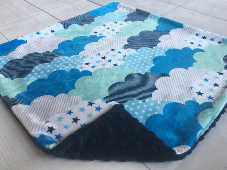 Minky Lovey Boy Lovey Baby Gift Lovey Blanket 17x17 Car Seat Lovey Cloud Lovey Baby Boy Lovey Minky Lovey Minky Lovey for Baby