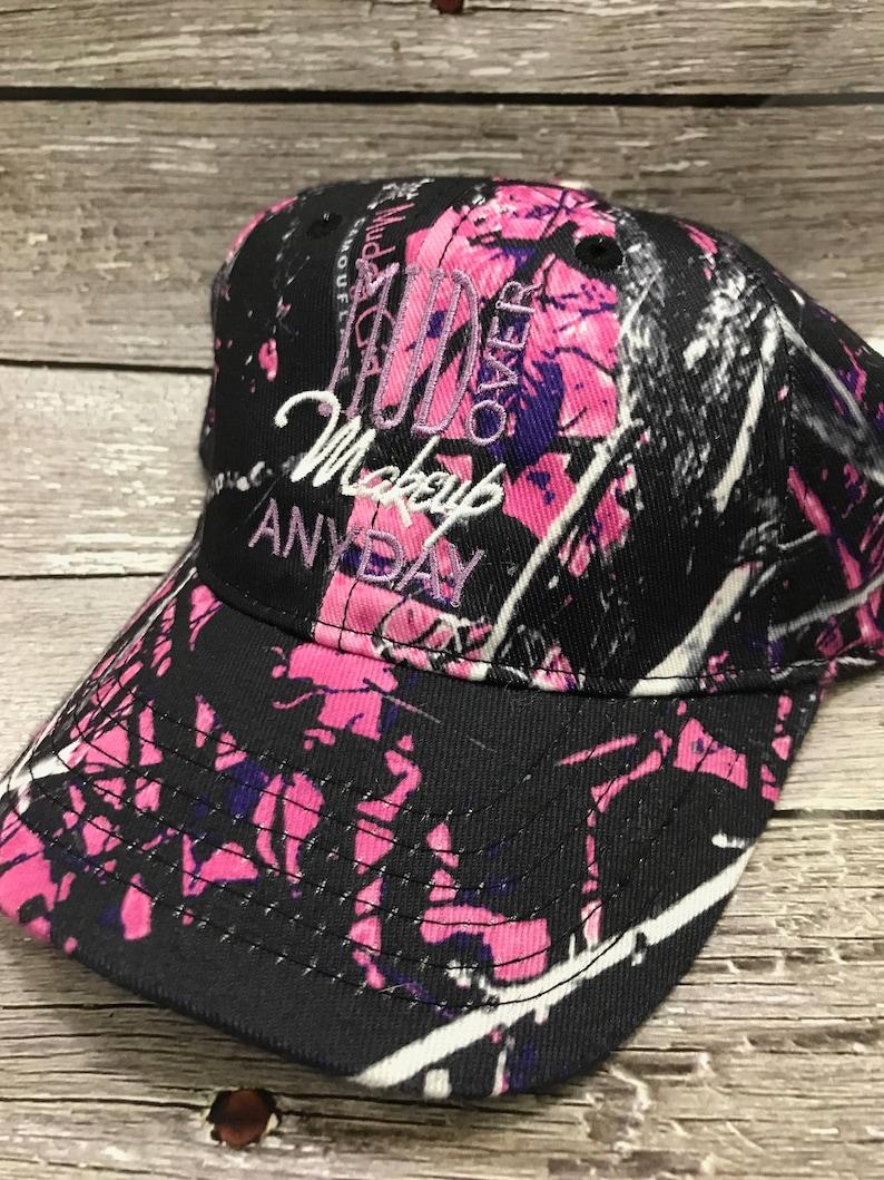 31952f062 Baseball hat, Muddy girl, RealTree camo, Pink RealTree, Gifts for her, Camo  girl,mud over makeup girl, hunting, fising