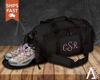 Monogram Gym Bag, Personalized Gym Bag, Personalized Duffel Bag, Monogram Gifts for Women, Personalized Workout Bag, FREE SHIPPING