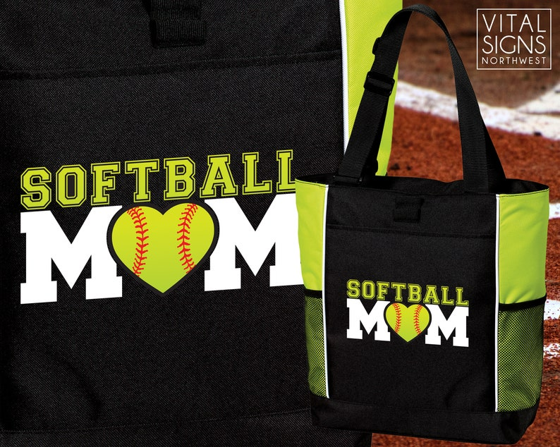 Mother/'s Day Purse Backpack Softball Tote Bag Gym bag by VitalSignandApparel Gifts for mom Softball Mom Softball Mom tote bag