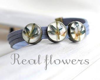 Blue bead bracelet lavender bracelet for bridesmaid gift-for-women Blue bracelet for girlfriend Elegant bracelet Delicate bracelet Terrarium