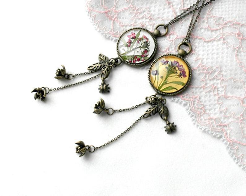 Boho necklace Long tassel necklace women necklace yellow image 0