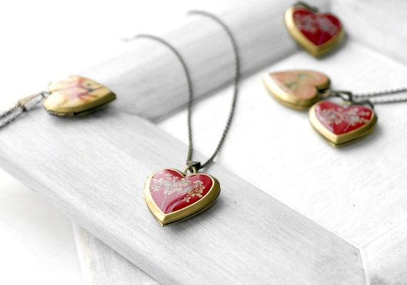 Para mujer Pulsera cadena de San Valentín Corazón Rojo Corazón Medallón