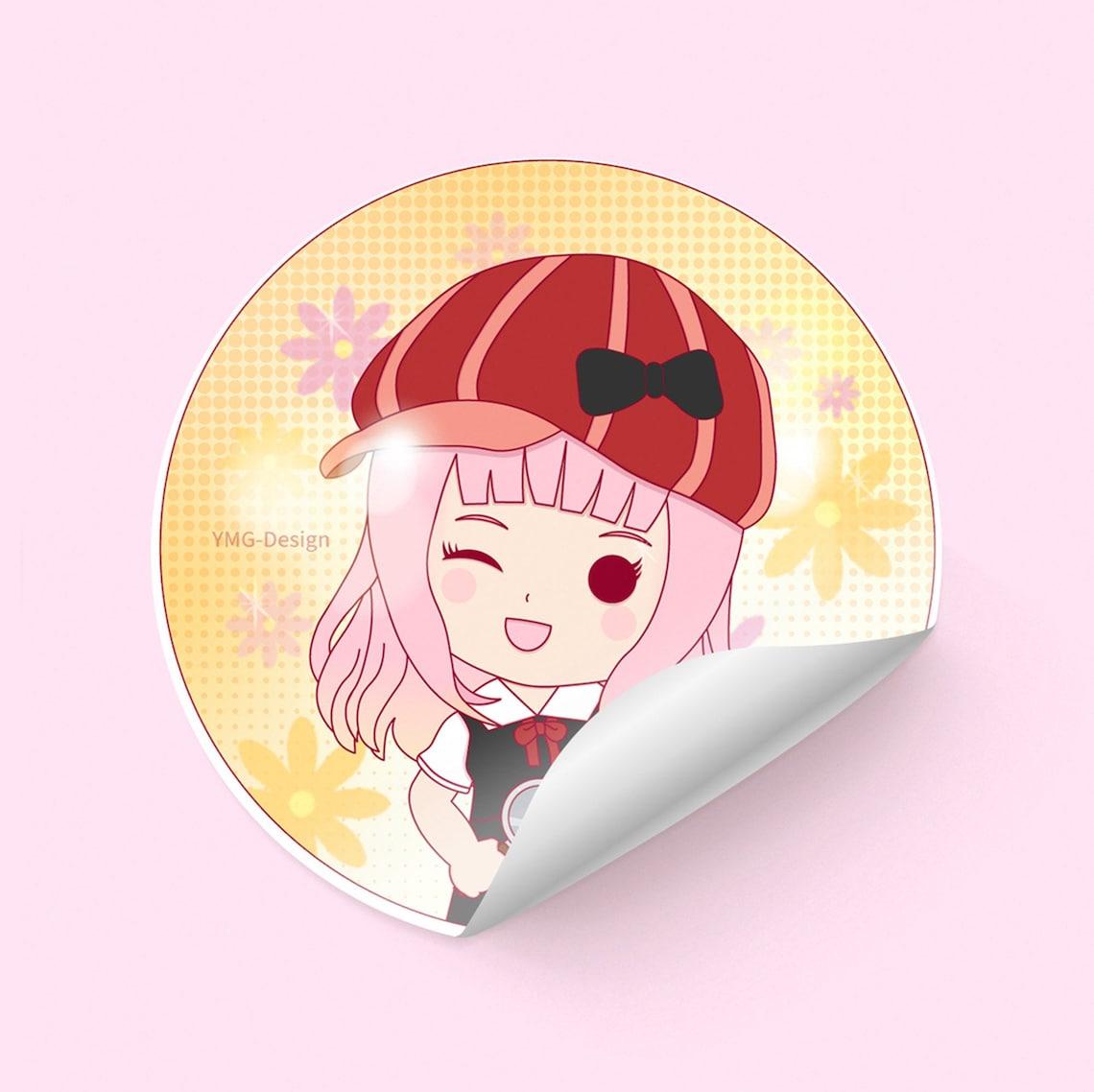 fujiwara chika sticker etsy