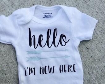 Hello world I'm new here onesie