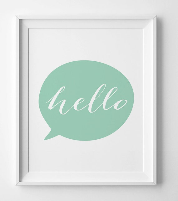 graphic relating to Printable Prints identify Mint artwork, wall prints, printable artwork, mint nursery print, Electronic, artwork, printable wall decor, Environmentally friendly prints, Howdy poster, typography poste