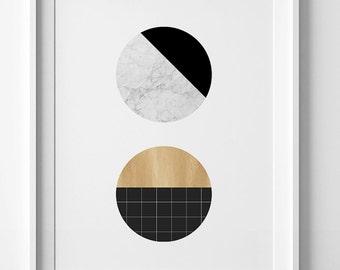 Modern print, Contemporary art, modern art, marble printable art, Scandinavian art, marble print, digital wall art print, geometric print