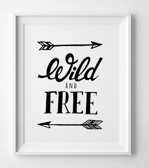 photo about Free Printable Wall Art Decor referred to as Printable wall artwork, electronic print, black and white artwork, Wild and Absolutely free, wall artwork prints, nursery print, nursery decor, printable estimate