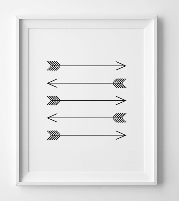 photo regarding Arrow Printable named Arrow artwork, black and white arrows, printable artwork, horizontal arrows, wall artwork printable, arrow print, black and white artwork downloadable print
