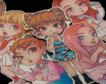 RED VELVET kpop STICKER Set |Russian Roulette | Joy, Irene, Seulgi, Yeri, Wendy