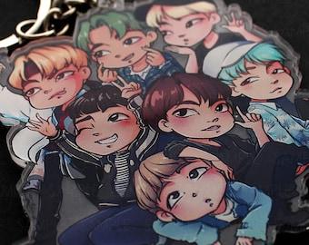 BTS Kpop FESTA18 KEYCHAIN | Rm, Jin, Jimin, Jungkook, V, Suga, JHope | Bangtan Boys