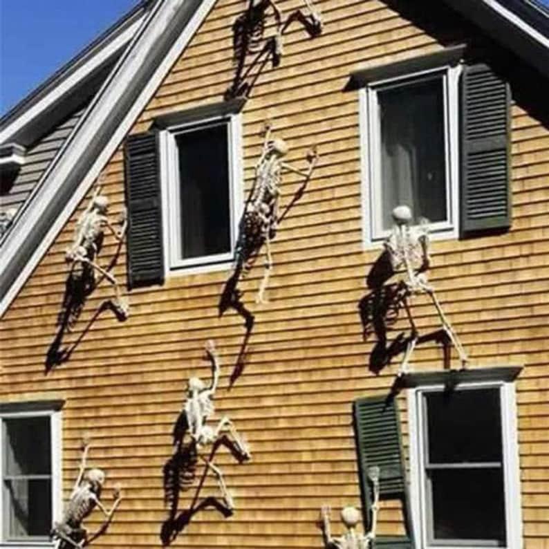 Halloween Movable Skull Skeleton Decoration  Scary Halloween image 1