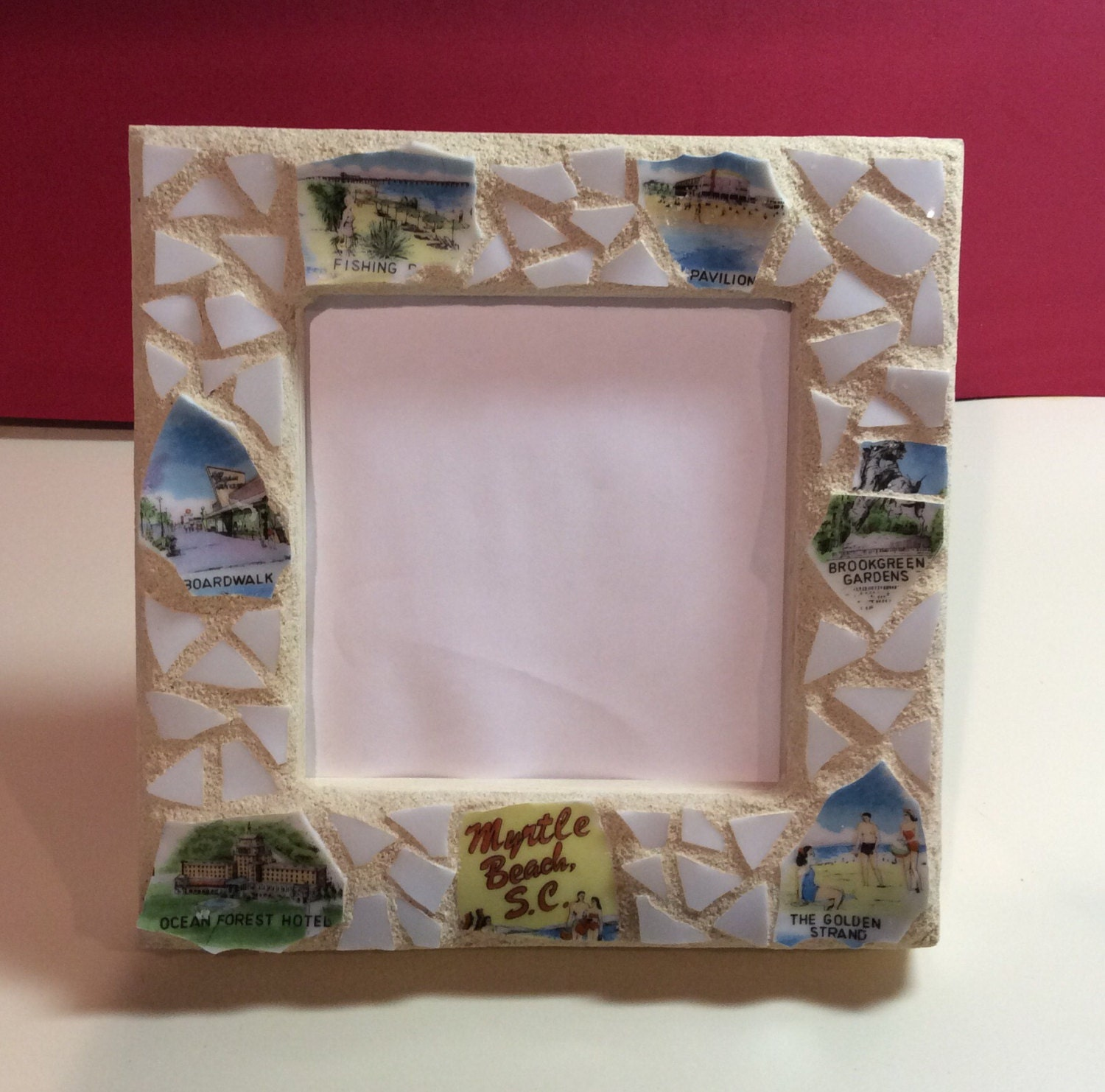 Mosaic Picture Frame Celebrating Myrtle Beach South Etsy
