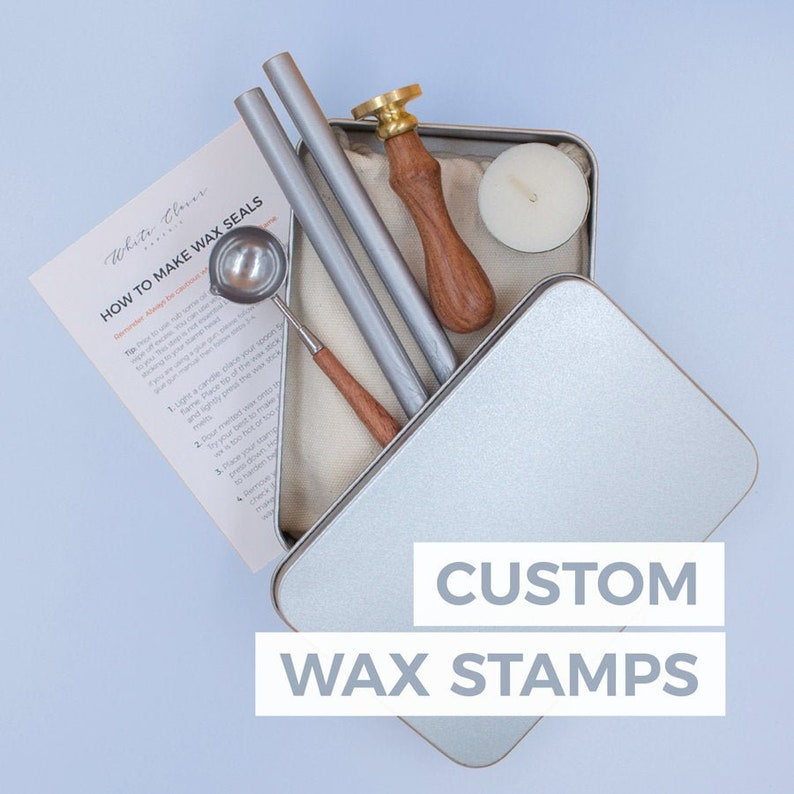 Custom Wax Seal Stamp Set custom logo family crest and image 0