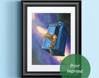 Amy Ponds Space, Doctor Tennant, geek, police phone call box, blue box, wall decoration, fantastic, movie and television