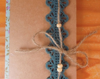 Turquoise book and knotted hemp