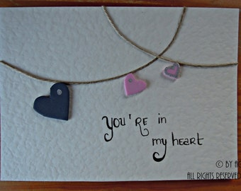 Valentine's Card - You're in my heart