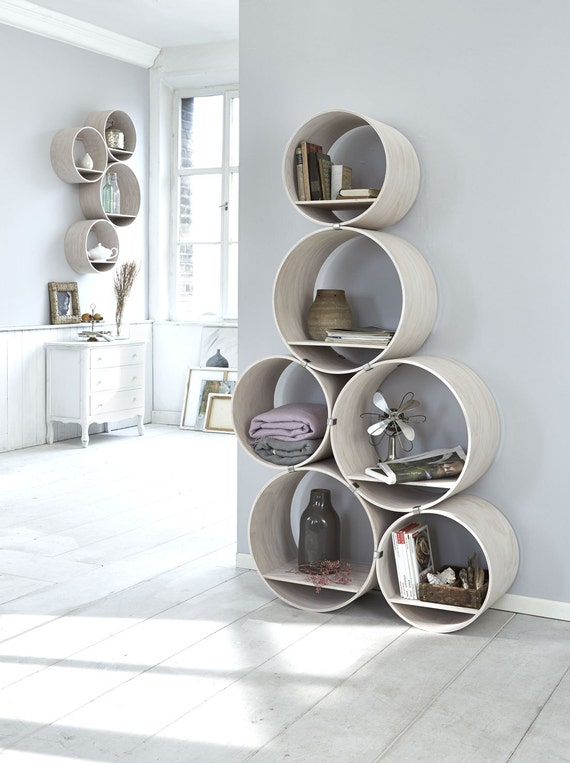 6 runde regale tief vintage inkl halter und einlegeb den. Black Bedroom Furniture Sets. Home Design Ideas