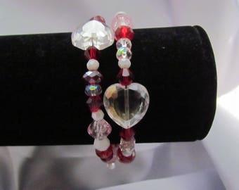 Crystal Memory Wire Bracelet