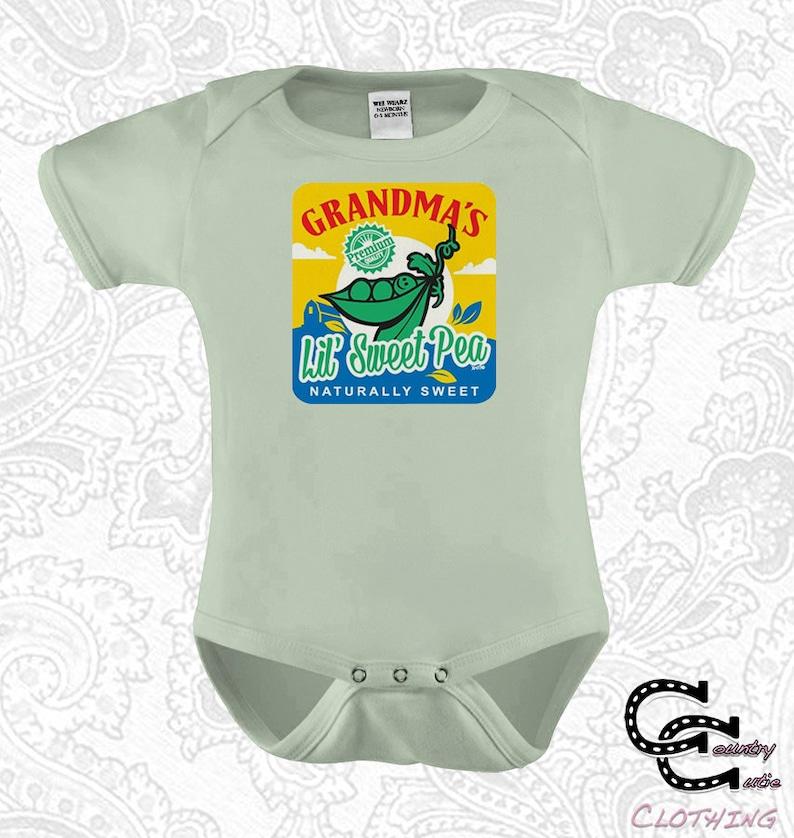 5d31d1d47 Grandmas Sweet Pea Grandma Baby Onesie / Creeper / Bodysuit   Etsy