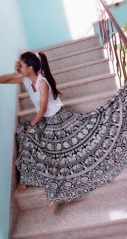 2a97d8b9b7 Indian Boho skirt Elephant gypsy skirt Mandala skirt maxi | Etsy