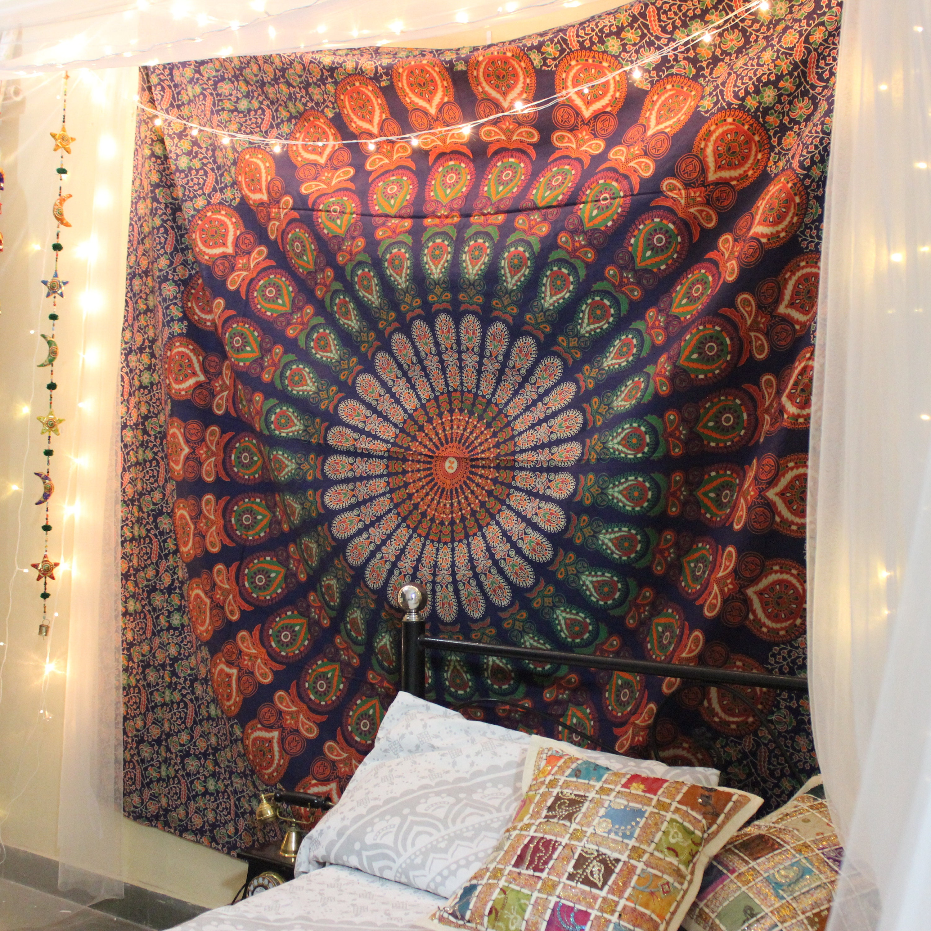 Cool Indian Tapestry Bohemian Tapestry Wall Hanging Mandala Tapestry Queen Bedspread Hippie Tapestry Boho Tapestry Dorm Tapestry Wall Decor