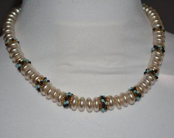547a4ba79690b Antique 1920's pearl necklace jewelry antique Rousselet | Etsy