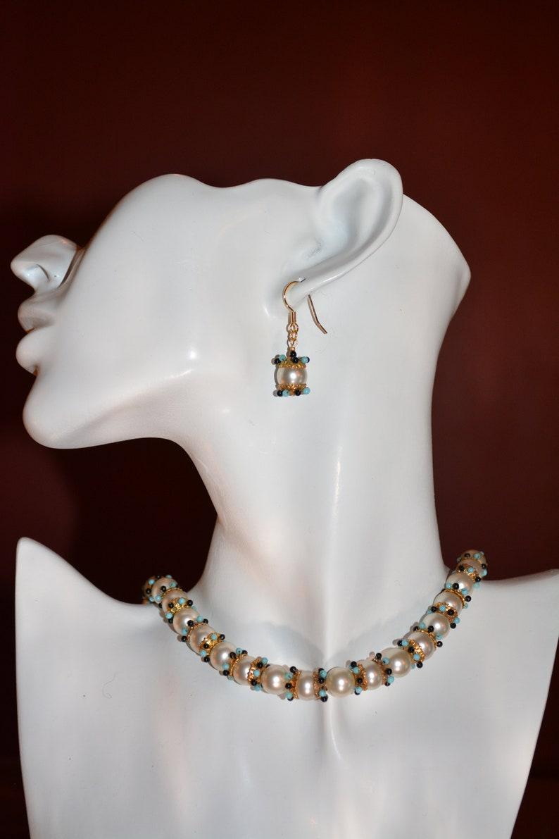 8fc82299d0f56 Antique 1920's pearl necklace jewelry antique Rousselet Paris luxury