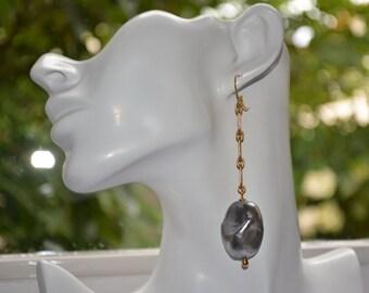 Earrings antique vintage pearl drop earrings Rousselet Paris